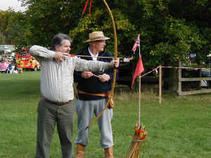 Longbow being used with Mark Cooper.